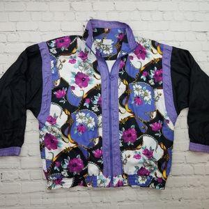 1990's Pierre Cardin Floral Windbreaker Jacket